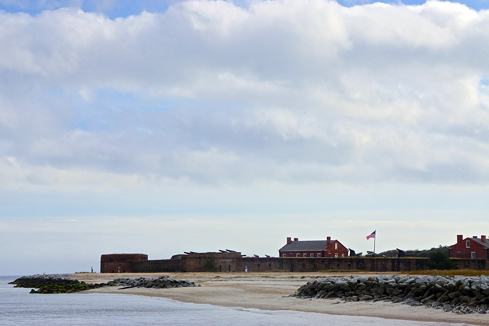 Fort Clinch State Park on the coast of Amelia Island.