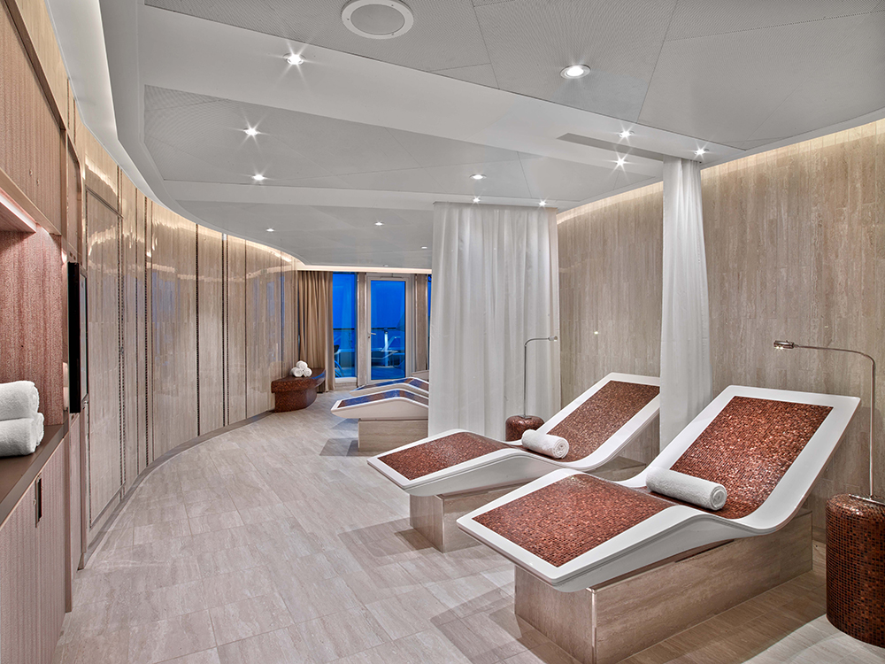 Cruise spa relaxation area on Seabourn Cruises