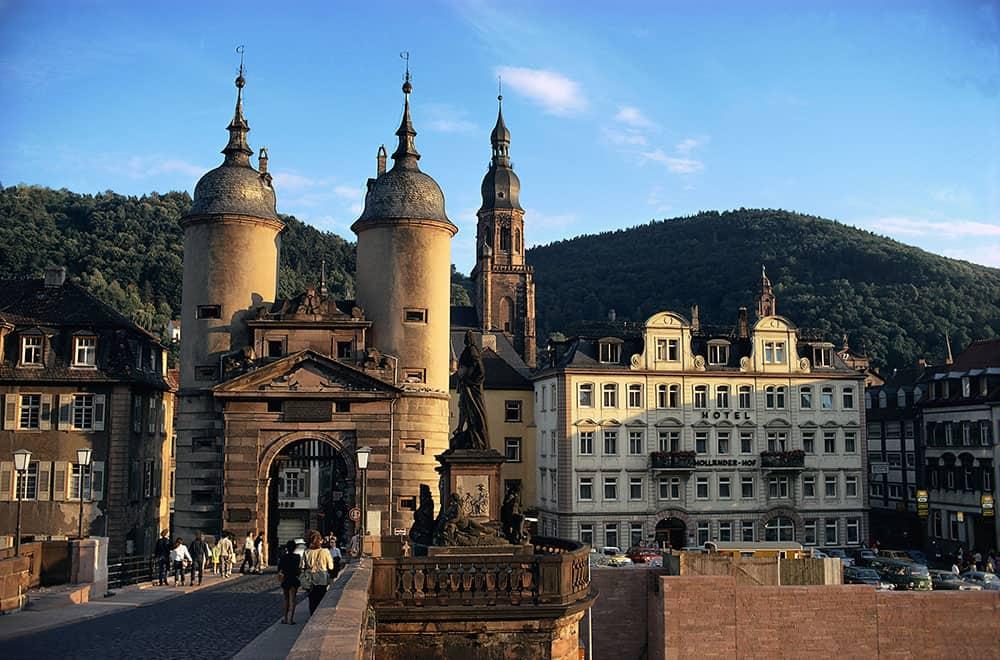 The Karl Theodor Bridge, the old bridge of Heidelberg