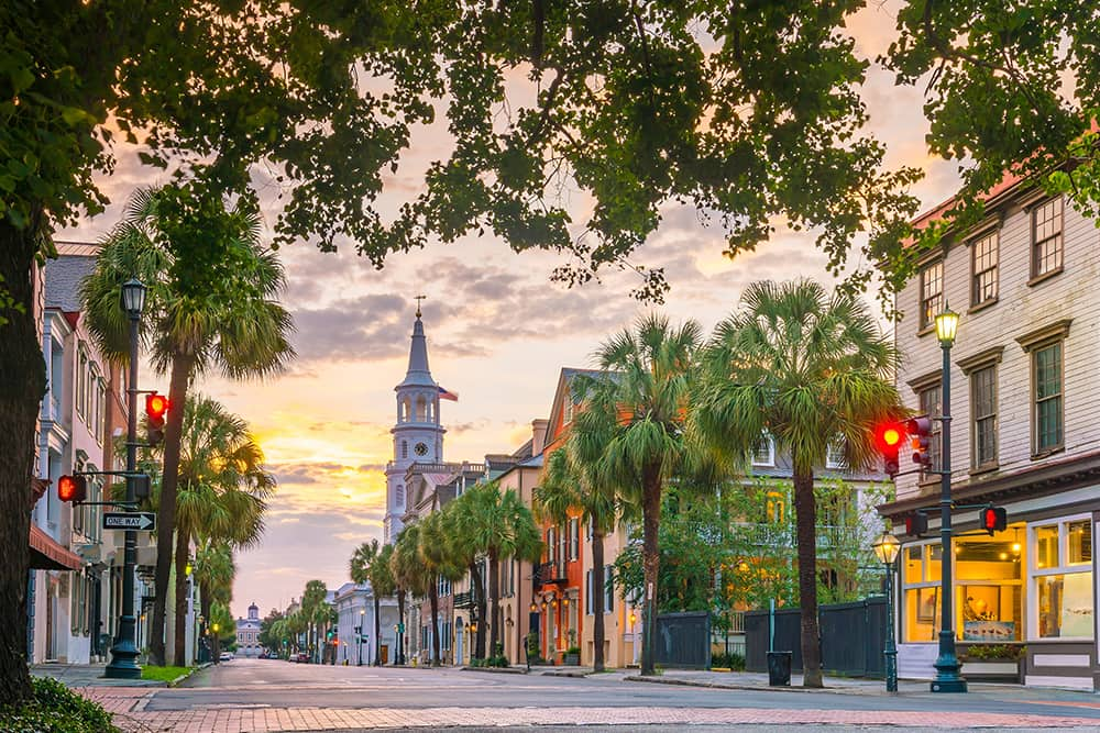 Downtown Charleston, SC--a top city for single seniors