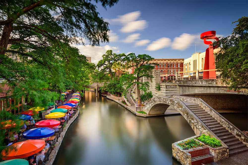 Riverwalk in San Antonio, TX--a top city for single seniors