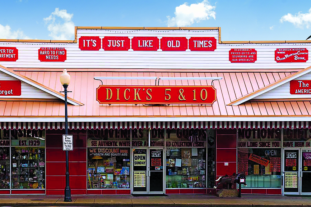 old fashioned five and dime storefront in branson, missouri - The AARP Travel Center