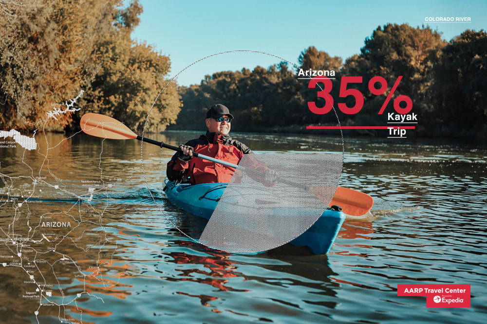 man kayaking on a river