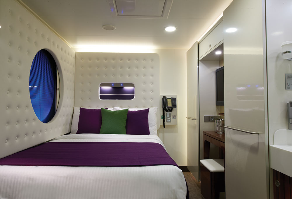 The perfect stateroom for solo traveleres