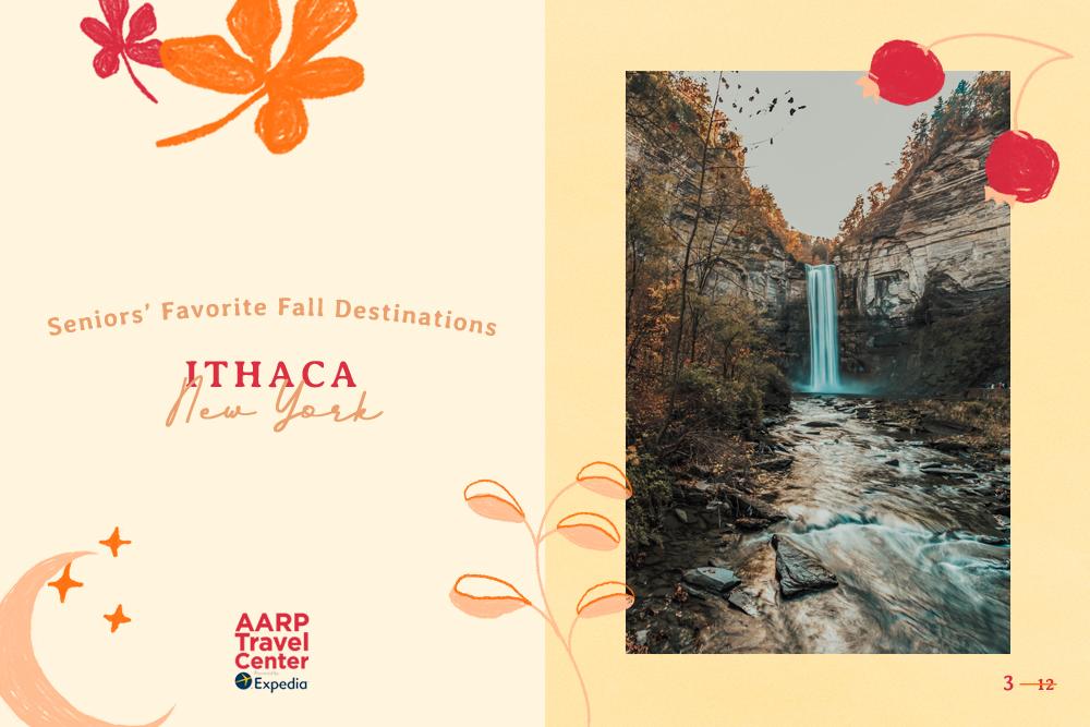 ithaca, ny in the fall
