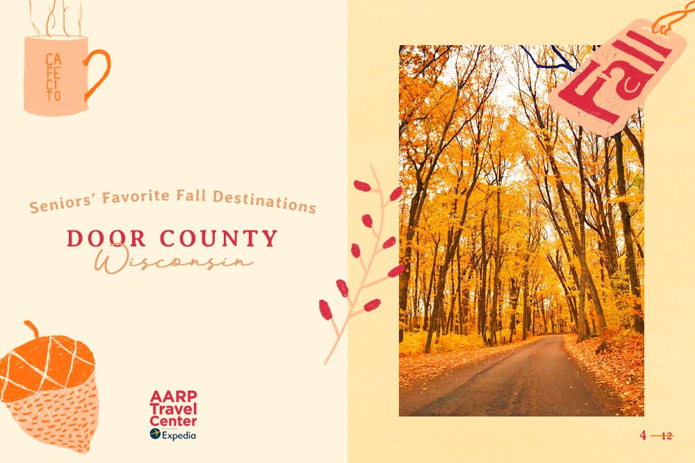 door county's fall foliage