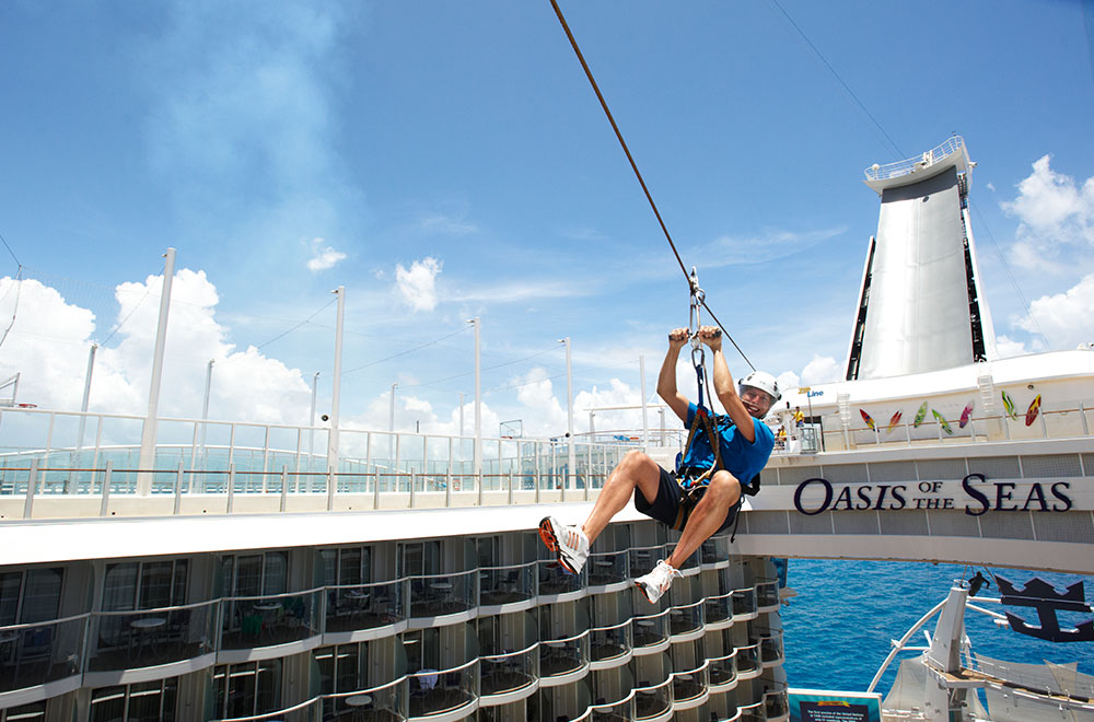 Zipline is a fun cruise activity for all ages