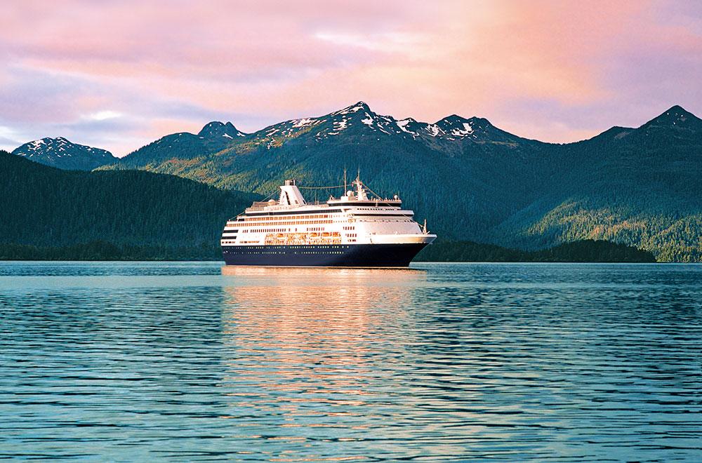ms Maasdam sailing along Alaska