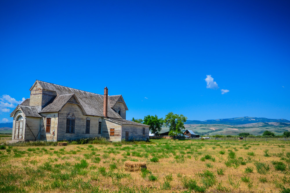 laramie, wyoming house looking across the plains