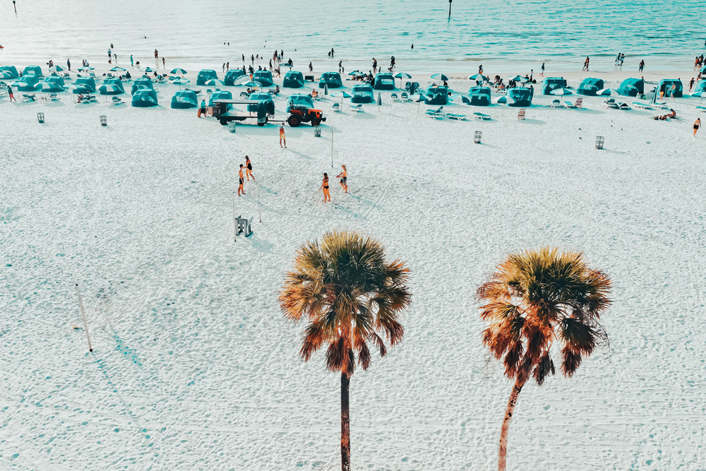 White sand beaches of Clearwater Florida