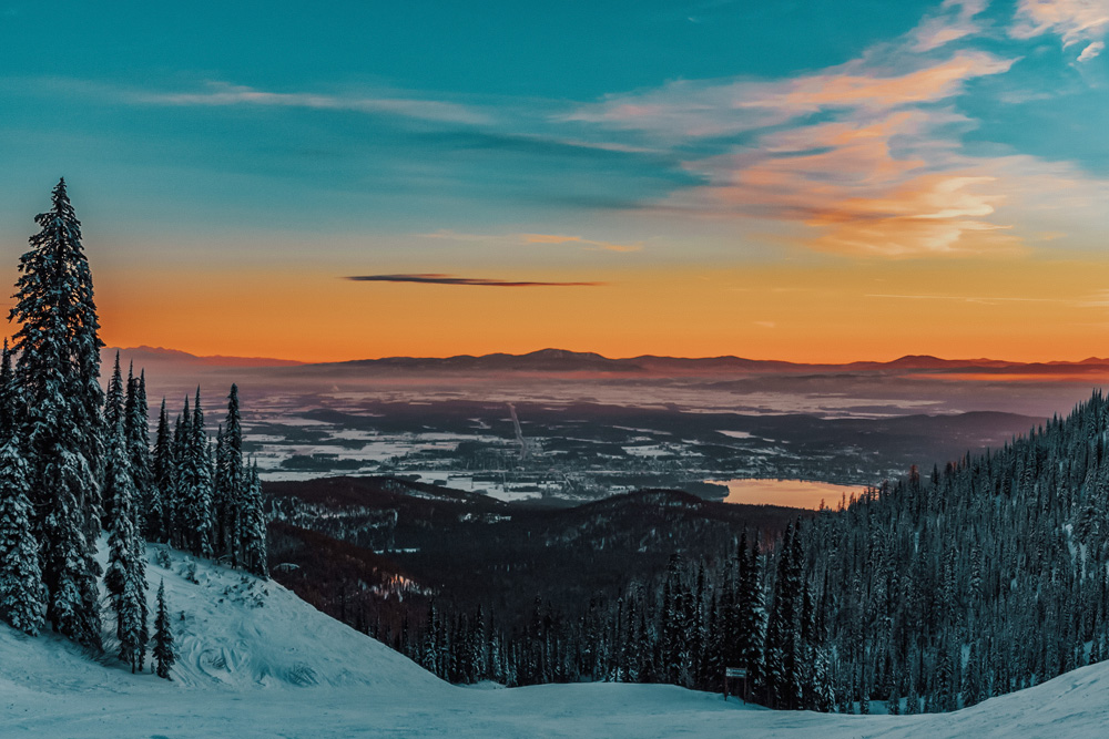 Whitefish Montana Winter Sunset