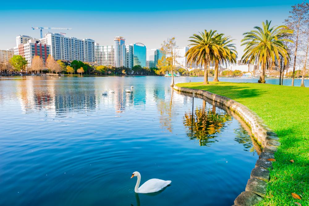 Lake Eola Park, Orlando, Florida, USA