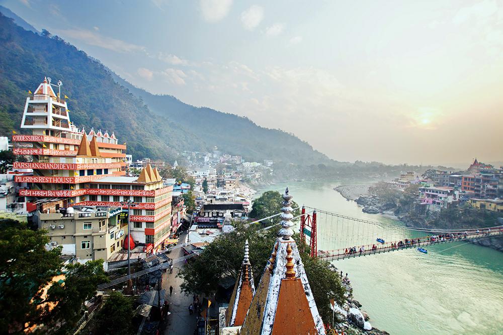 Rishikesh, yoga city India, Ganges River Ganga Ram Jhula Jhula