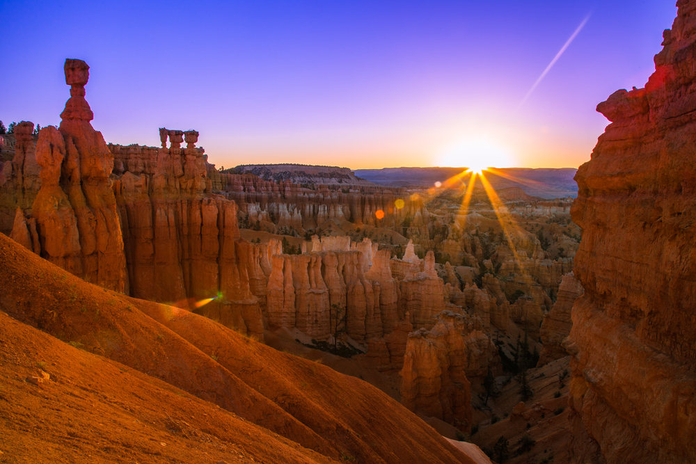 sunrise at Bryce Canyon in Utah