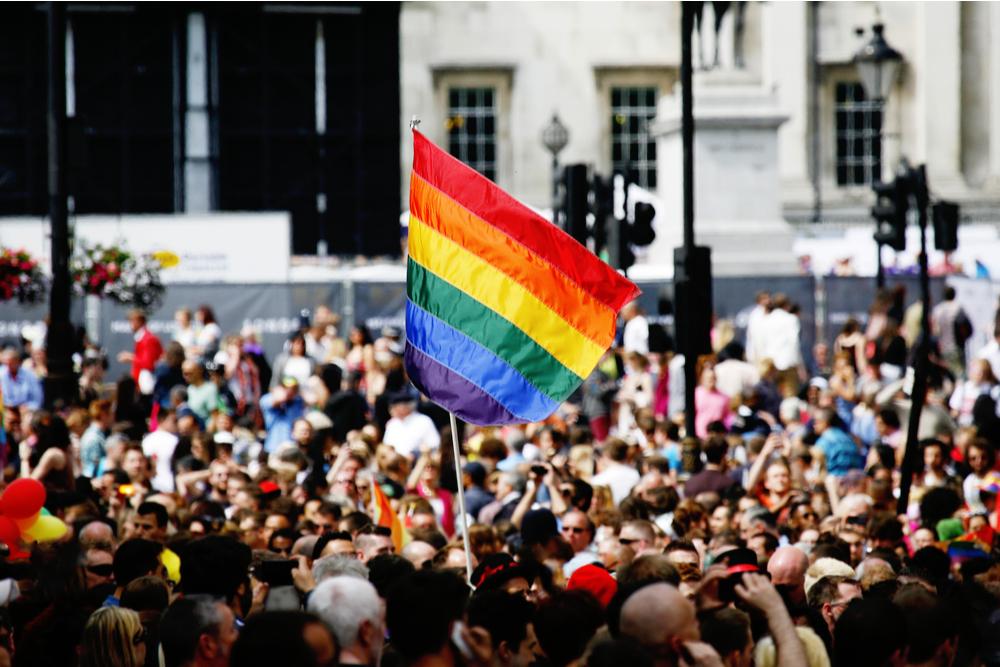 Rainbow flag in London's Gay Pride